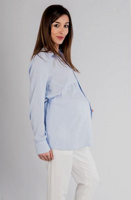 camisa premama elegante azul (2)