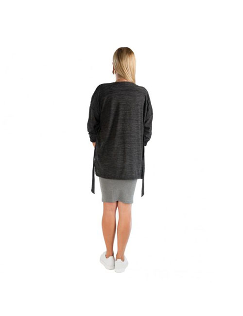chaqueta premama larga gris oscuro (2