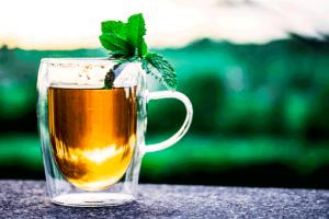 Té de hojas de frambueso