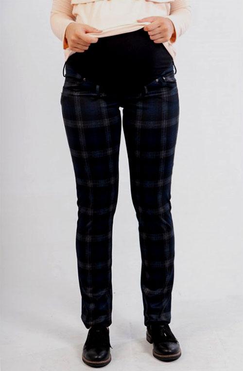 pantalon premama cuadros azul (2)