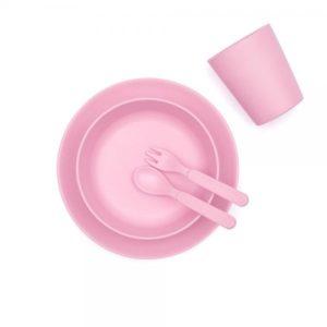 vajilla rosa bambú Logroño