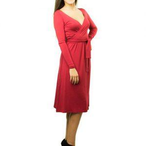 VESTIDO PREMAMÁ Y LACTANCIA rojo elegante