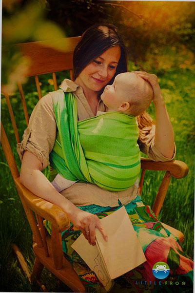 fular tejido lino verde (2)