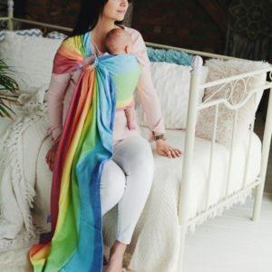 BANDOLERA DE ANILLAS. ALGODÓN. rainbow aura