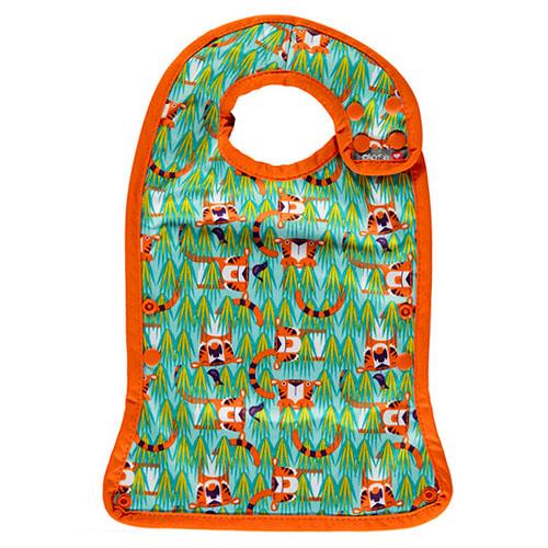 babero con bolsillo tigres naranja y verde (3)