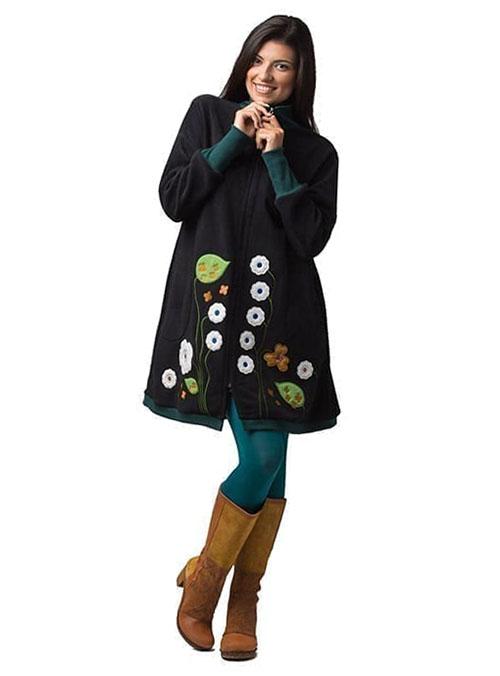 abrigo embarazo y porteo negro