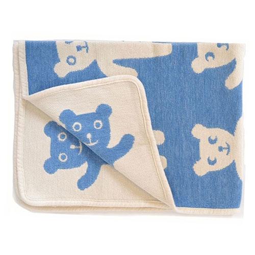 manta chenilla algodón orgánico osos azul (4)