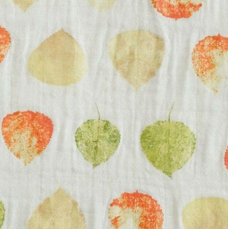 muselina algodón hojas otoño verdes (1)