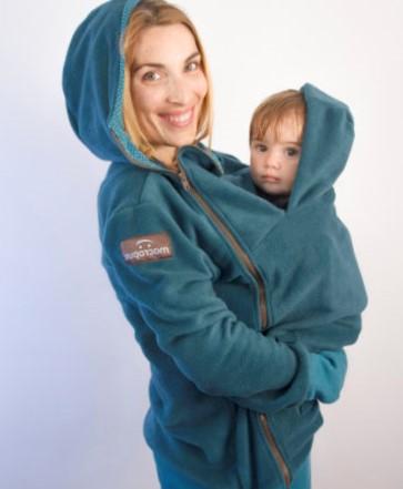 abrigo de embarazo y porteo- verde -polar- macropus- (10)
