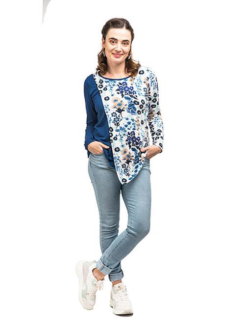 blusa premama y lactancia azul flores (5)