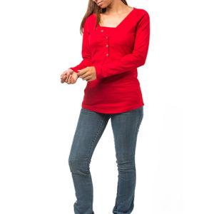 camiseta premamá y lactancia- rojo - arbol de amor - logroño