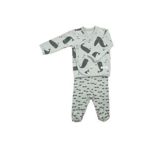 conjunto bebé -ballenas gris - baobabs - logroño