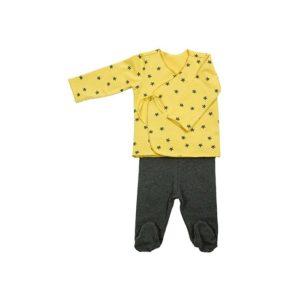 conjunto bebé - mostaza estrellas -baobabs - logroño
