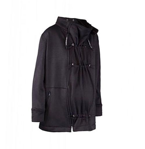 abrigo premama y porteo invierno doble negro