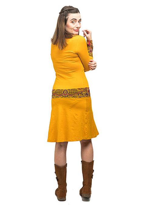 vestido lactancia corto mostaza manga larga (3)