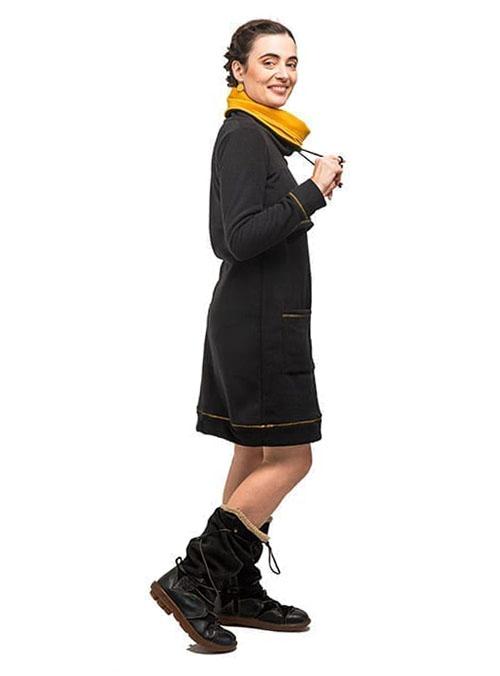 vestido de lactancia invierno forro polar