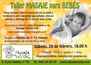 taller masaje para bebés