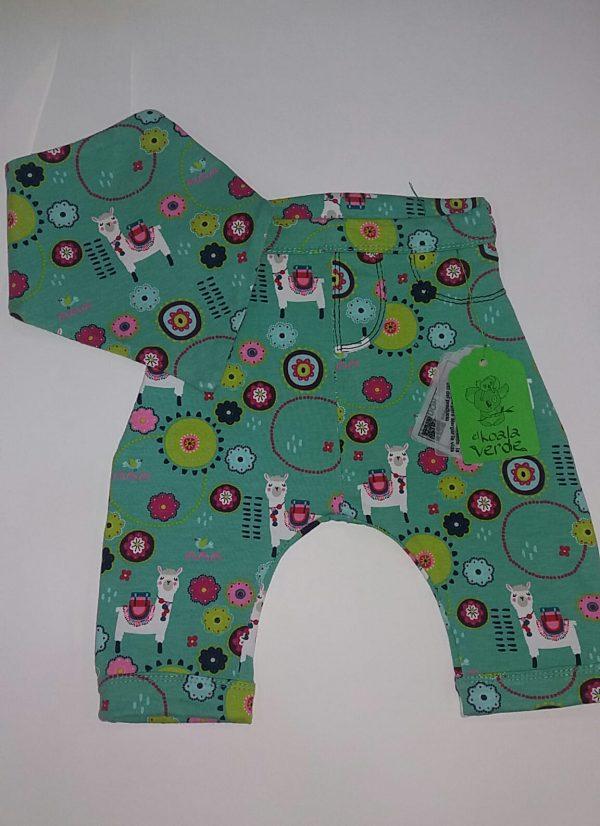 pantalon dibujitos verde primera puesta