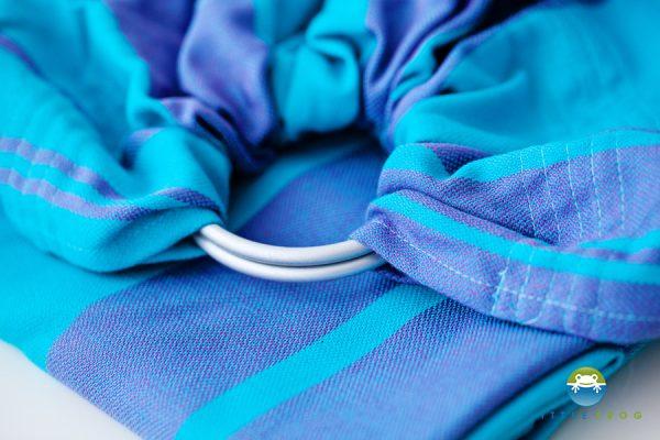 bandolera algodón azul rayas