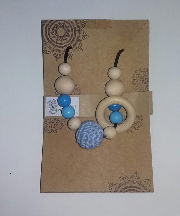 collar lactancia crochet azul