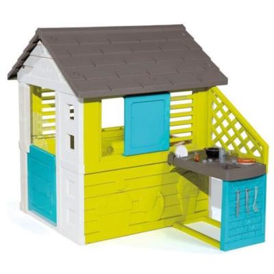 casa de plástico con cocina marca Smoby Pretty