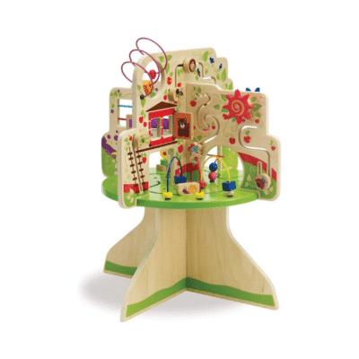 Mesa de actividades árbol ábaco de madera de Manhattan Toy