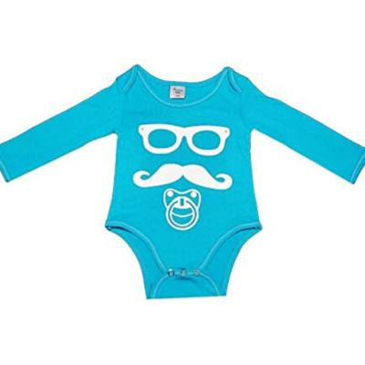 body de bebé azul de Poussin Bleu