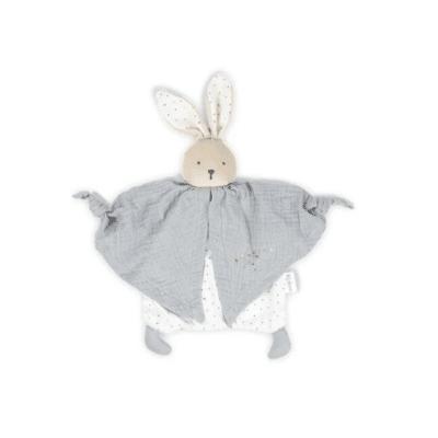 peluche conejo gris y blanco