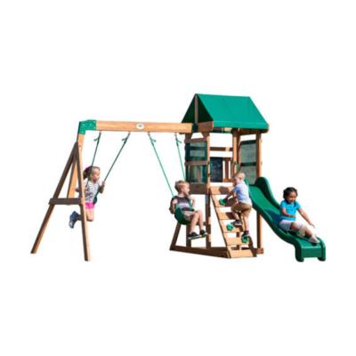 Playset Buckley Hill patio de juegos de madera marca patio al aire libre