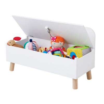 Caja de juguetes de madera blanca marca Oxybul