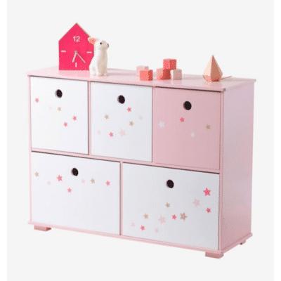 5 contenedores rosas para niños línea de contenedores Féerie marca vertbaudet