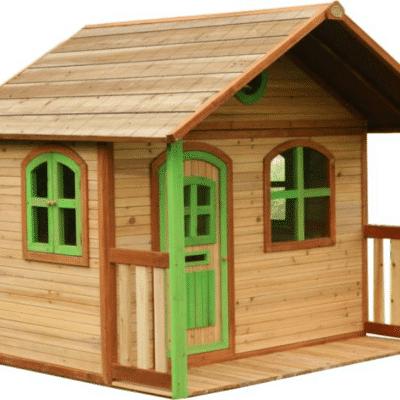 Cabaña Axi Milan en madera de cedro para niños