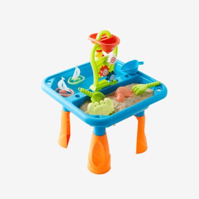 Juego al aire libre mesa de juego al aire libre arena y agua vertbaudet