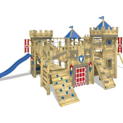 el área de juegos para niños parece un castillo fort mark wickey