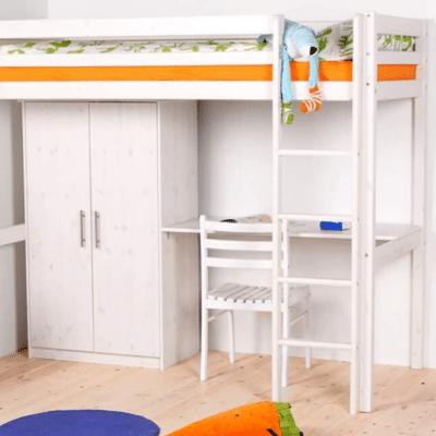cama alta en madera para niños de la marca Flexa