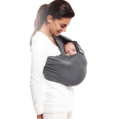 Diadema de bebé gris para recién nacido de la marca Wallaboo