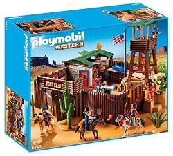 Playmobil western - fuerte de soldados americanos