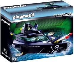 Playmobil top agent - barco de ataque robo gang
