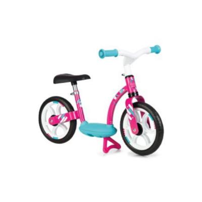 bicicleta de equilibrio para niños smoby comfort azul y rosa
